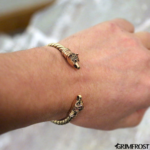 Arm Rings - Bear Armring, Bronze - Grimfrost.com