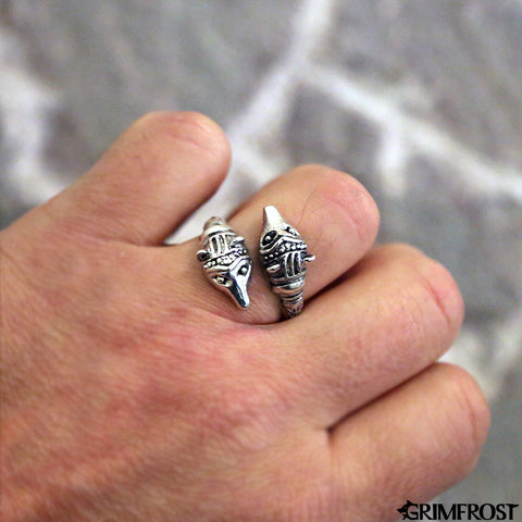 Rings - Bear Ring, Silver - Grimfrost.com