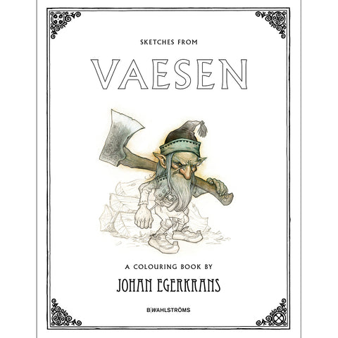 Books - Sketches from Vaesen, A Colouring Book - Grimfrost.com