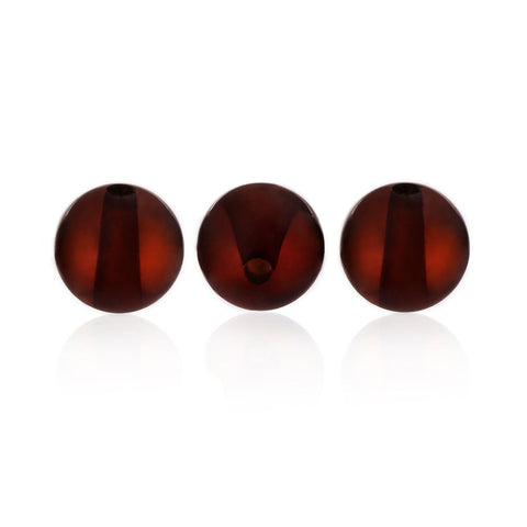 Amber Beads - Amber Beads, Polished Round, Black - Grimfrost.com
