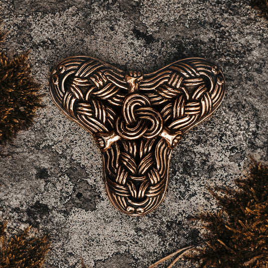 Brooches - Birka Threefoil Brooch, Bronze - Grimfrost.com