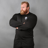 Men's Gym Longsleeves - Long-sleeve, Grimfrost, Black - Grimfrost.com