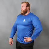 Men's Gym Longsleeves - Long-sleeve, Grimfrost, Blue - Grimfrost.com