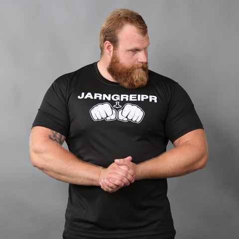 Shortsleeves - Short-sleeve, Jarngreipr, Black - Grimfrost.com
