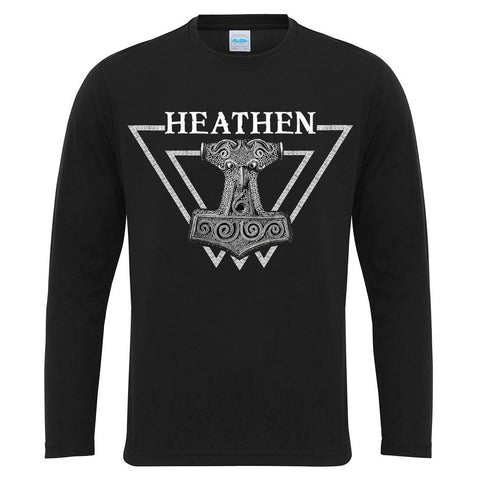 Men's Gym Longsleeves - Long-sleeve, Heathen, Black - Grimfrost.com