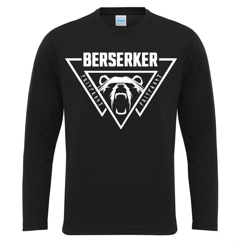 Men's Gym Longsleeves - Long-sleeve, Berserker, Black - Grimfrost.com