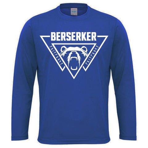 Men's Gym Longsleeves - Long-sleeve, Berserker, Royal Blue - Grimfrost.com