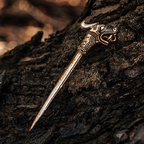 Hair Jewelry - Hedeby Hairpin, Bronze - Grimfrost.com