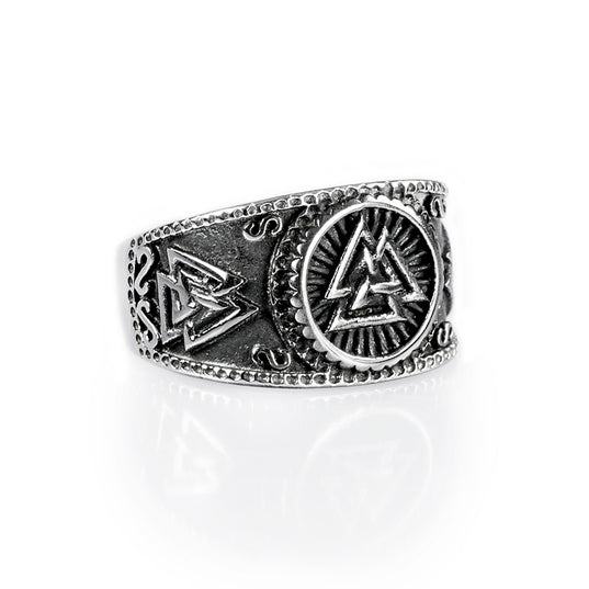 Rings - Valknut Ring, Stainless Steel - Grimfrost.com
