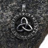 Viking Jewelry - Runic Triquetra Pendant, Stainless Steel - Grimfrost.com
