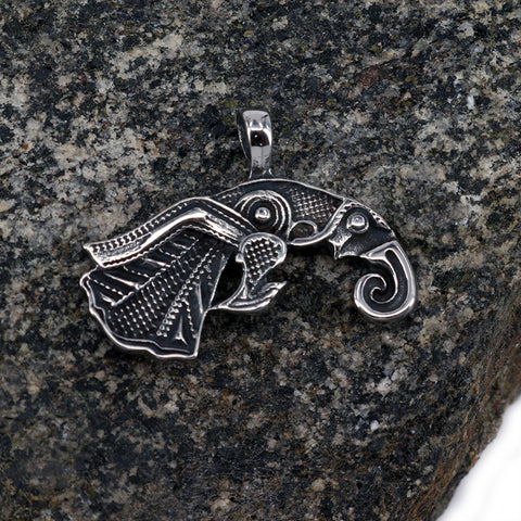 Pendants - Raven Pendant, Stainless Steel - Grimfrost.com