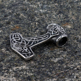 Thor's Hammer - Knotwork Thor's Hammer, Stainless Steel - Grimfrost.com