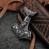 Thor's Hammers - Ravens Hammer, Stainless Steel - Grimfrost.com