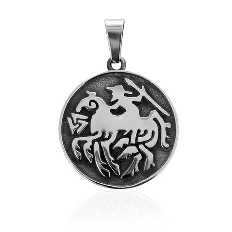 Pendants - Odin Pendant, Stainless Steel - Grimfrost.com