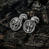 Grimfrost Cufflinks, Stainless Steel