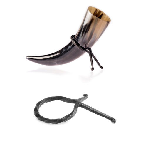 Drinking Horn Stands - Drinking Horn Stand, Hand Forged - Grimfrost.com