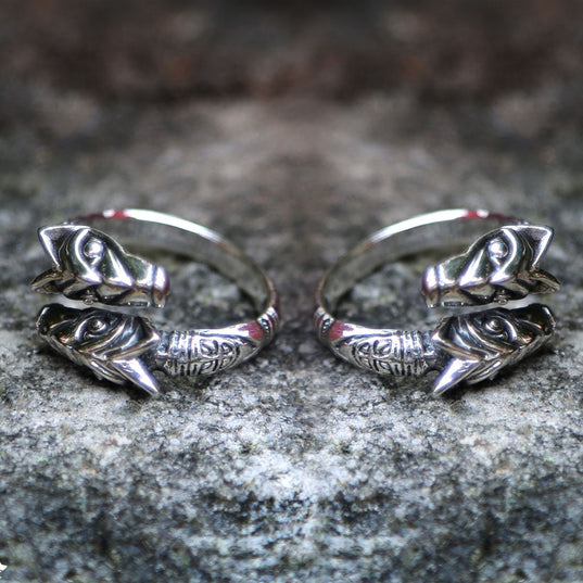 Bundles, Sets & Deals - Freki & Geri Ring Set, Silver - Grimfrost.com