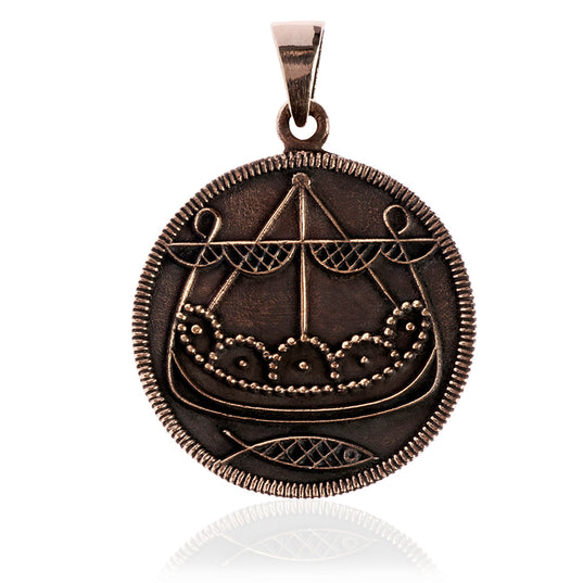 Ribe Ship Pendant, Bronze