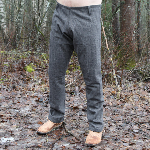 Trousers - Viking Wool Trousers, Black - Grimfrost.com