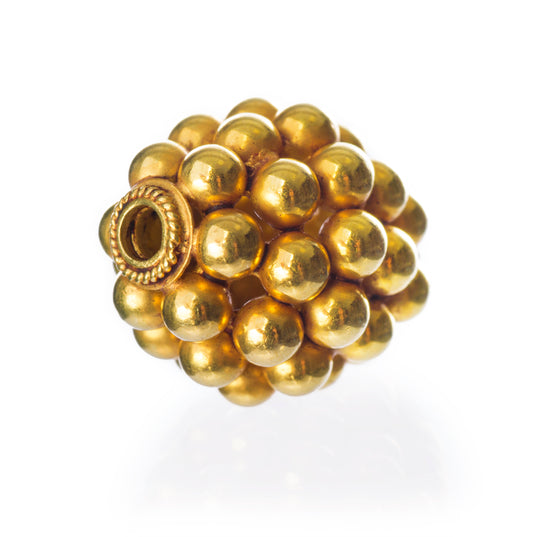 18K Gold Beads - Viking 18K Gold Bead, Bragi - Grimfrost.com