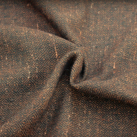 Fabrics - Handwoven Diamond Twill, Brown - Grimfrost.com