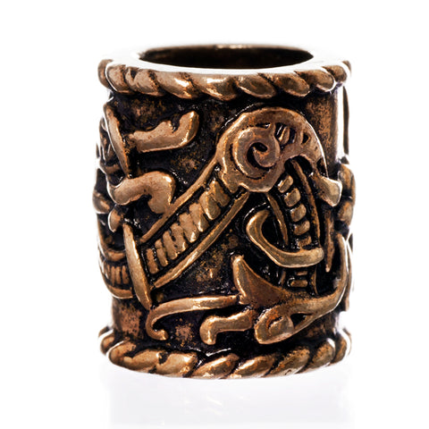 XL Knotwork Beard Ring, Bronze
