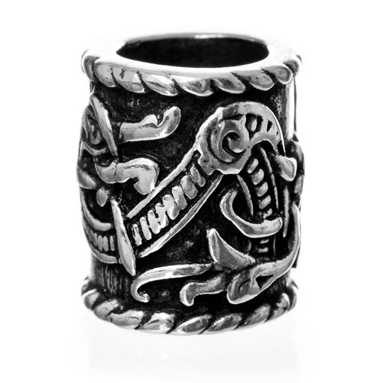 XL Knotwork Beard Ring, Silver