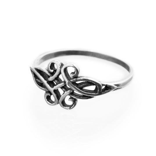 Rings - Swirl Ring, Silver - Grimfrost.com