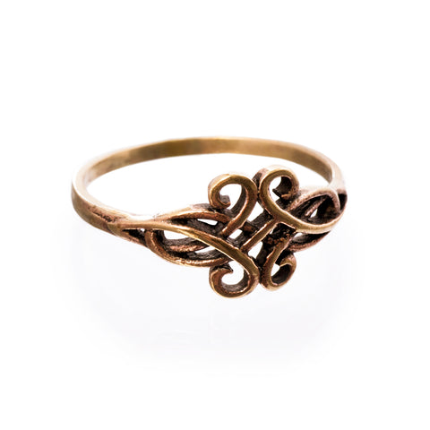 Swirl Ring, Bronze