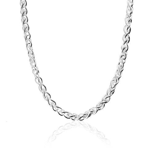 Silver Wheat Chain