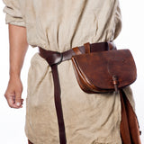 Bags & Pouches - Viking Belt Bag, Wooden Lock - Grimfrost.com