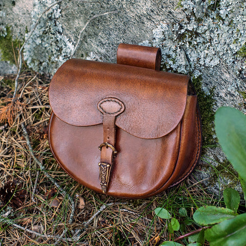 Bags & Pouches - Belt Bag, Bronze Lock - Grimfrost.com