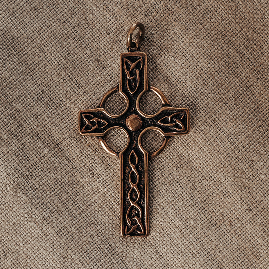 Pendants - Celtic Cross, Bronze - Grimfrost.com