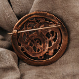 Brooches - Lindworm Brooch, Bronze - Grimfrost.com