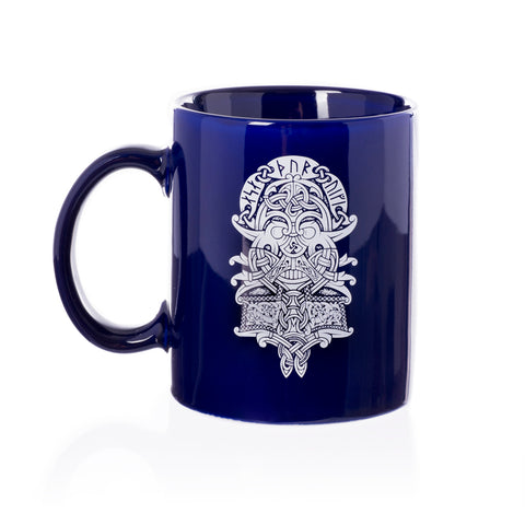 Mugs - Coffee Mug, Thor Mask, Blue - Grimfrost.com