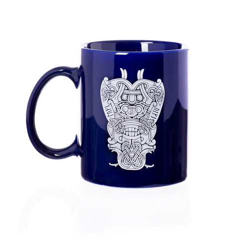 Mugs - Coffee Mug, Loki Mask, Blue - Grimfrost.com
