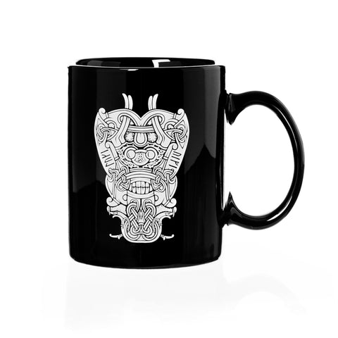 Mugs - Coffee Mug, Loki Mask, Black - Grimfrost.com