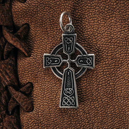 Pendants - Celtic Cross, Silver - Grimfrost.com