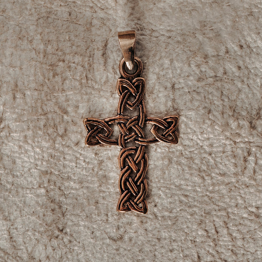 Pendants - Knotwork Cross, Bronze - Grimfrost.com