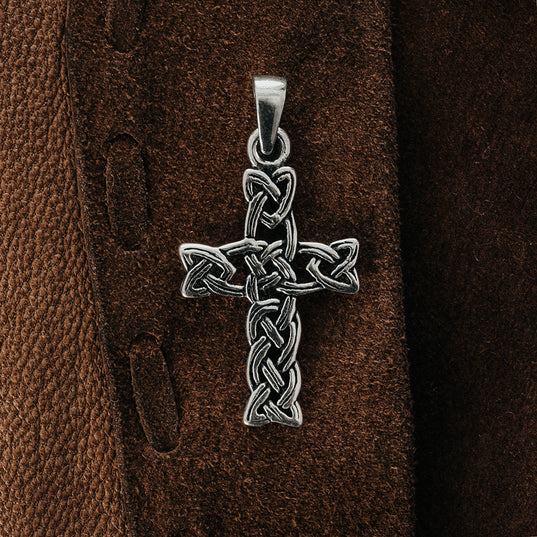 Knotwork Cross, Silver