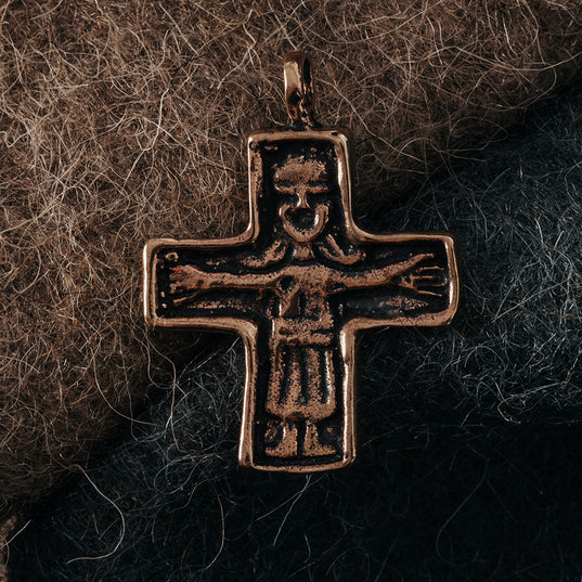 Pendants - Viking Age Cross, Bronze - Grimfrost.com