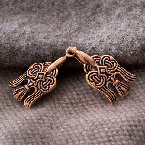 Clasps - Raven Clasp, Small, Bronze - Grimfrost.com