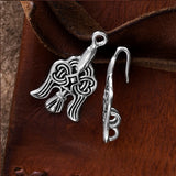 Clasps - Raven Clasp, Small, Silvered Bronze - Grimfrost.com