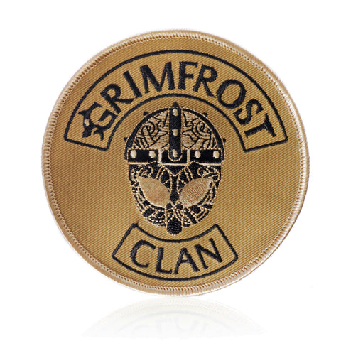 Patches - Grimfrost Clan Patch, Embroidered, Desert - Grimfrost.com