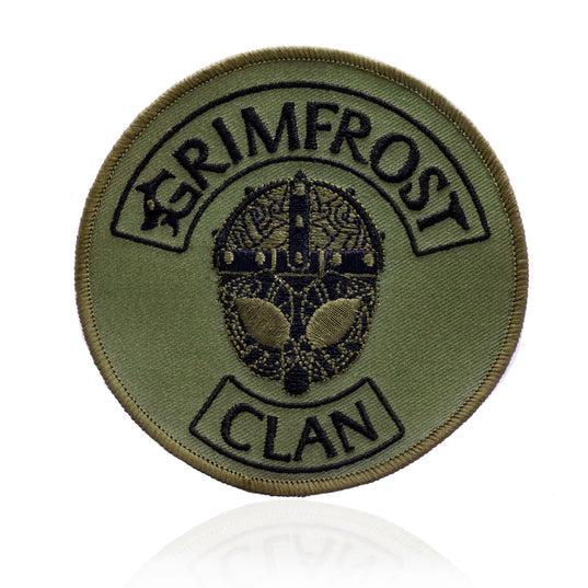 Patches - Grimfrost Clan Patch, Embroidered, Army Green - Grimfrost.com