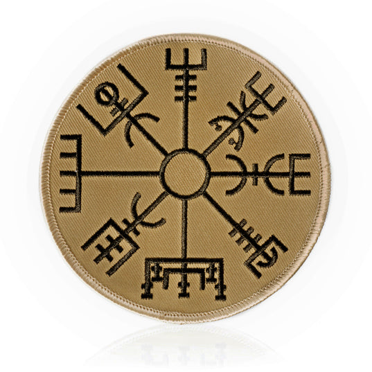 Vegvisir Patch, Embroidered, Desert