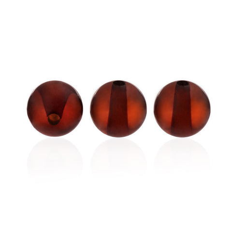 Amber Beads - Amber Beads, Polished Round, Brown - Grimfrost.com