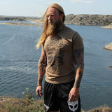 T-shirts - Premium Tee, Thor Mask, Coyote Brown - Grimfrost.com