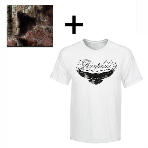Sets & Bundles - Rúnahild T-shirt and CD, White - Grimfrost.com