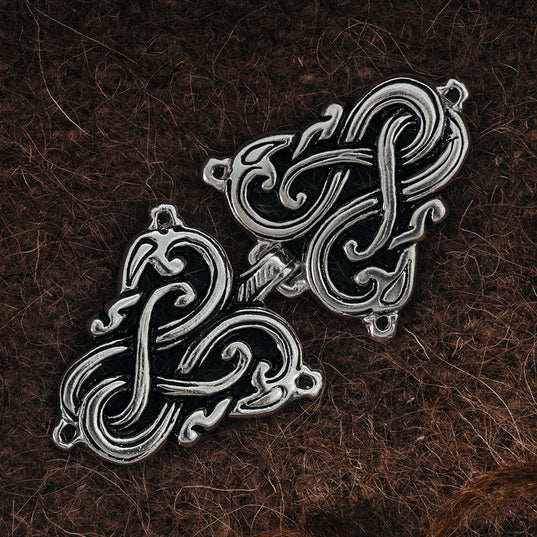 Clasps - Lindworm Clasp, Silver - Grimfrost.com